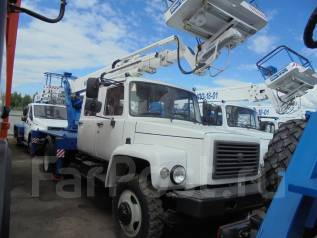 Випо-22. Автогидроподъемник ВИПО-22-01 на шасси ГАЗ-33086 (4х4) 5м. кабина, 100куб. см., 22м.