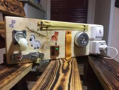 Бизиборд ручной работы - полезная игрушка для малыша!
