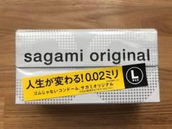 Презервативы Sagami 0,02mm. Полиуретановые 12шт L размеры