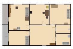 3-комнатная, улица Луговая 72. Баляева, 54кв.м. План квартиры