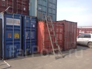 Сдаю в аренду 20 футовый контейнер под склад. 15кв.м., улица Днепровская 29, р-н БАМ. Дом снаружи