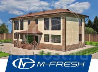 M-fresh Duplex Tandem! (Проект дома с расчетом фундаментной плиты! ). 200-300 кв. м., 2 этажа, 6 комнат, бетон
