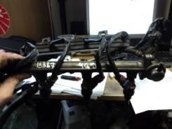 Рампа топливная с форсунками Mitsubishi Lancer 91г 4G91 б/у Mitsubishi MD175076