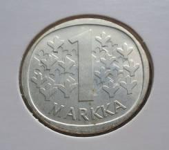 1 марка 1966 года. Серебро. Финляндия! Без обращения! В наличии!
