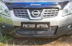 Защитная сетка решетки бампера Nissan Qashqai 2006-2010 Ниссан Кашкай. Nissan Qashqai, J10 Двигатели: HR16DE, K9K, M9R, MR20DE