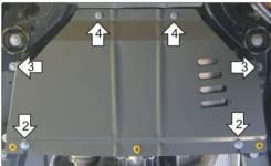Защита кпп. Volkswagen Touareg, 7L6, 7L7, 7LA Porsche Cayenne, 955 Двигатели: AXQ, AYH, AZZ, BAA, BAC, BHK, BHL, BJN, BKJ, BKS, BLE, BLK, BMV, BMX, BP...