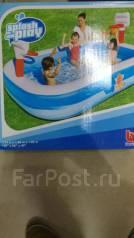 Надувной бассейн с кольцами для игры в мяч! Доставка Бесплатно!