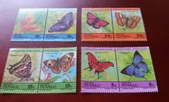 Экзотика! Тувалу. 8 чистых марок 1985 г. Бабочки. Полная серия. Отличн