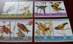 Экзотика! Невис. 8 чистых марок 1985 г. Птицы. Полная серия. Отличный