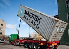Grunwald. Полуприцеп-контейнеровоз самосвальный с гидравлическим подъем, 32 000кг.