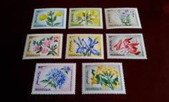 Монголия. 8 чистых марок 1966 г. Цветы. Полная серия. Отличный сохран!
