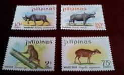 Филиппины. Нечастая полная серия из 4 чистых марок 1968 г. Фауна. Прев