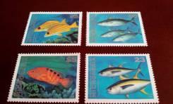 Дорогие чистые 4 марки Микронезии 1996 г. Морские обитатели. Полная се