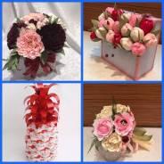 Сладкие подарки из конфет. Подарки на праздник. Подарки для женщин. Под заказ