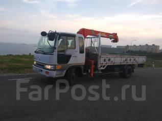 Hino Ranger. Продам бортовой грузовик с манипулятором, 7 960куб. см., 5 000кг.