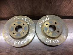 Диск тормозной. Mazda Demio, DY3W Двигатели: ZJVE, ZJVEM