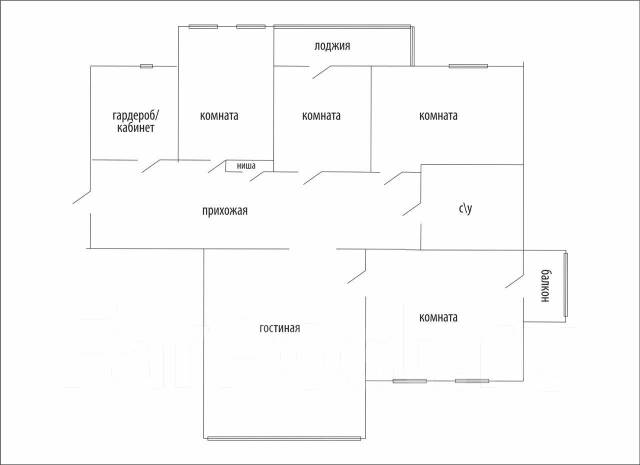 3-комнатная, улица Басаргина 38. Патрокл, частное лицо, 130кв.м. План квартиры