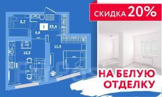 1-комнатная, улица Леонова 70. Эгершельд, застройщик, 34кв.м.