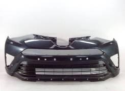 Бампер передний под омыв. фар + решетка + спойлер toyota rav4 15- б/у. Toyota RAV4, ALA49, ALA49L, ASA42, ASA42W, ASA44, ASA44L, AVA42, AVA44, WWA42...