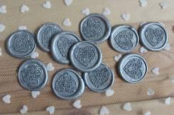 Сургучная печать для декора и творчества. Серебро