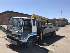 Isuzu Forward. Бортовой грузовик с манипулятором , 6 500куб. см., 4x2