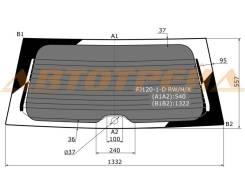 Стекло заднее (крышка багажника) затемненное TOYOTA LAND CRUISER PRADO 02-09/GX470 02-10 3/5D