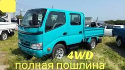 Toyota Dyna. 4WD, двухкабинник + борт, 1 500кг., 4x4