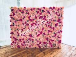 """Фотозона из цветов во Владивостоке от студии декора """"Бомбастик"""""""