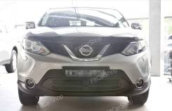 Защитная сетка бампера Nissan Qashqai 2014-2016 (ниссан кашкай). Nissan Qashqai, J11 Двигатели: H5FT, HR12DDT, K9K, MR16DDT, MR20DD, R9M