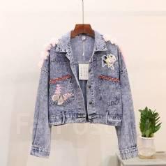 Куртки джинсовые. 38, 40, 42, 44, 46, 48. Под заказ