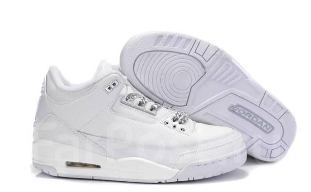 Кроссовки женские Air Jordan 3 Retro AAA White белые Джордан - Обувь ... 1125af02095