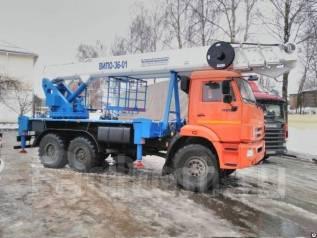 Випо-36. Автогидроподъемник ВИПО-36-01 на шасси Камаз-43118 (6х6) в Москве, 36м.