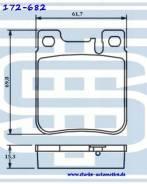 Колодки тормозные MERCEDES W140 (S280-S600) / W210 (E280-E55AMG)/ W220 (S500/S600) задние (15.6mm)
