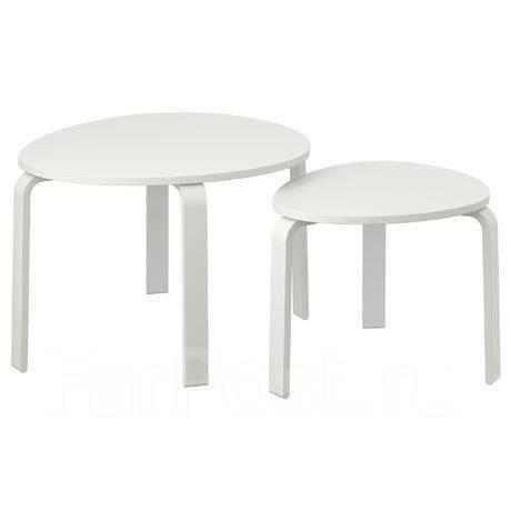 свальста комплект столов 2 шт белая морилка икеа в наличии