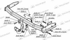 Фаркоп. Kia Combi Ford Maverick Mazda Tribute, EP3W, EPEW, C01, EPFW, CU09B, CZ90Z Двигатели: D4AL, D4DA, L3VE, AJ, YF, AJV6, L3. Под заказ
