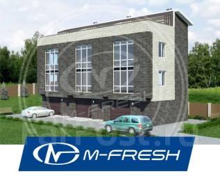 M-fresh Townhouse Trio! (Готовый проект таунхауса из теплоблоков! ). 400-500 кв. м., 3 этажа, 9 комнат, бетон