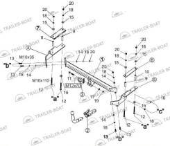 Фаркоп. Chevrolet Aveo, T200, T250, T255 F12S3, F15S3, F14S3, LMU, B12S1, F14D3, L95, F14D4, LY4, F16D3, L91, B12D1, LXV, LXT. Под заказ