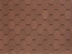 Гибкая черепица с базальтовым покрытием линии НОБИЛЬ ТАЙЛ Вест темно-коричневый