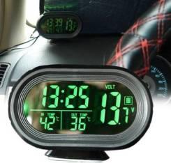 Термометр автомобильный внутренний (часы,вольтметр) 12V VST7009V