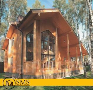 """Проект дома из клееного бруса """"Надёжный"""". 100-200 кв. м., 2 этажа, 3 комнаты, дерево"""