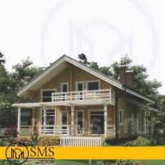 Проект дачного дома. 100-200 кв. м., 2 этажа, 4 комнаты, дерево