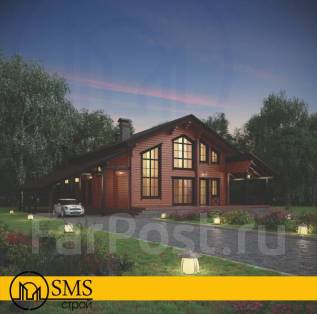 Стильный загородный дом. 200-300 кв. м., 2 этажа, 5 комнат, дерево