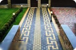 Брусчатка, укладка тротуарной плитки в Хабаровске