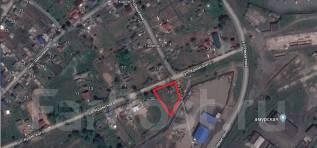 Продаётся земельный участок в районе 8-го КМ с адресом под ИЖС. 824кв.м., собственность, электричество, вода. План (чертёж, схема) участка