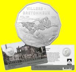 Австралия 50 центов 2018 Villers-Bretonneux. Western Front. Война