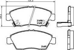 Колодки дисковые передние Honda Civic 1.4i/1.6i/1.7i/1.7CTDi 01-05 FENOX BP43144