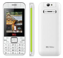 BQ BQM-2424 Nikko. Б/у, до 8 Гб, Белый, Зеленый, Dual-SIM, Кнопочный