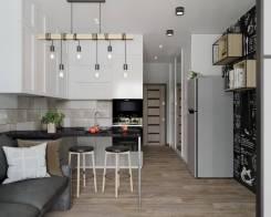 Дизайн студии. Тип объекта квартира, комната, срок выполнения месяц