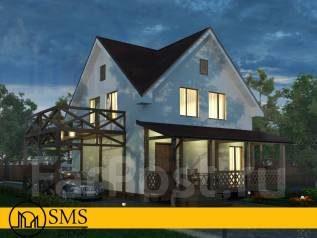 """Проект дома """"M-Valtery"""". до 100 кв. м., 2 этажа, 4 комнаты, комбинированный"""