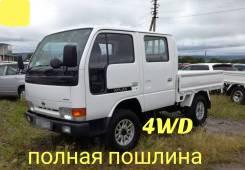 Nissan Atlas. 4WD, двухкабинник + борт, 2 700куб. см., 1 500кг.